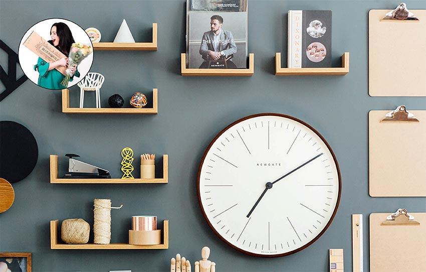 Newgate clock image on a shelf