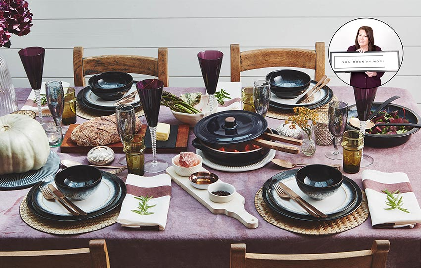 Gorgeous dinner table set up The Wedding Shop
