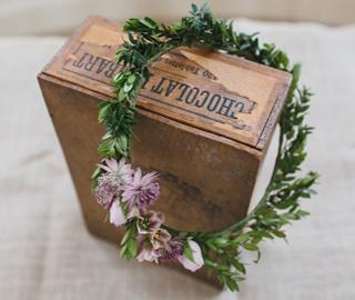 Flower garland and wedding decor