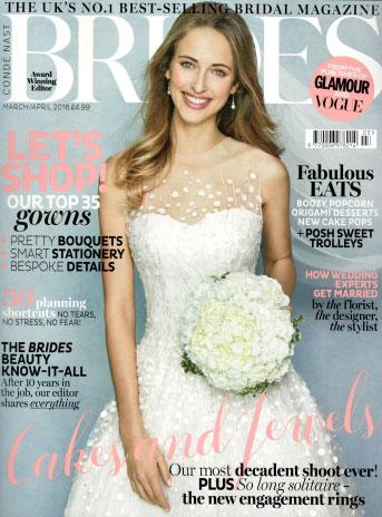 Brides Magazine March 2106 Cover