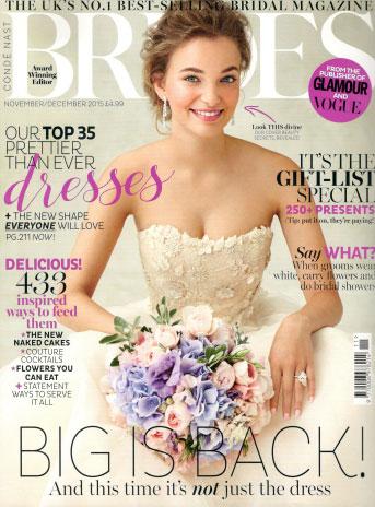 Brides Magazine November 2015 Cover